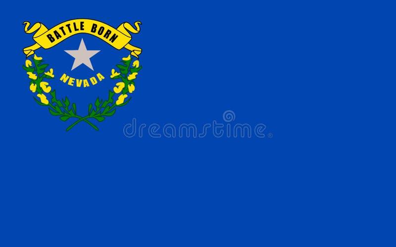 Bandiera del Nevada, U.S.A. immagine stock libera da diritti