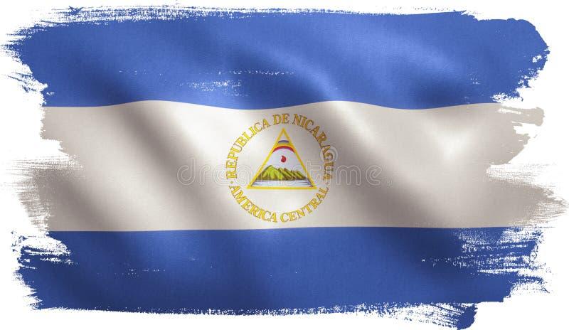Bandiera del Nicaragua illustrazione di stock