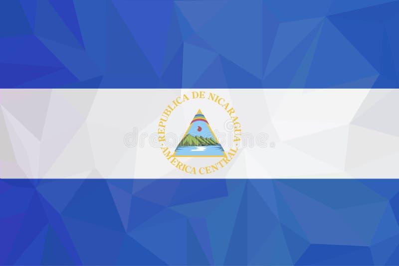Bandiera del Nicaragua di vettore, illustrazione della bandiera del Nicaragua, immagine della bandiera del Nicaragua, immagine de royalty illustrazione gratis