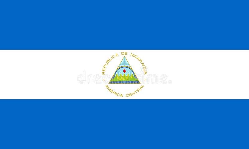 Bandiera del Nicaragua nel tasso ufficiale e nei colori royalty illustrazione gratis
