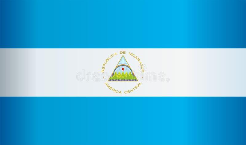 Bandiera del Nicaragua, Repubblica del Nicaragua Illustrazione luminosa e variopinta di vettore royalty illustrazione gratis