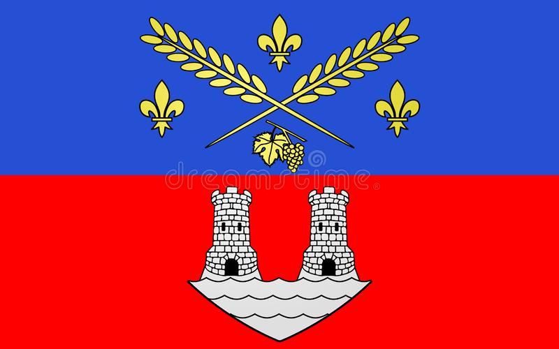 Bandiera del Nogent-sur-Marne, Francia fotografie stock
