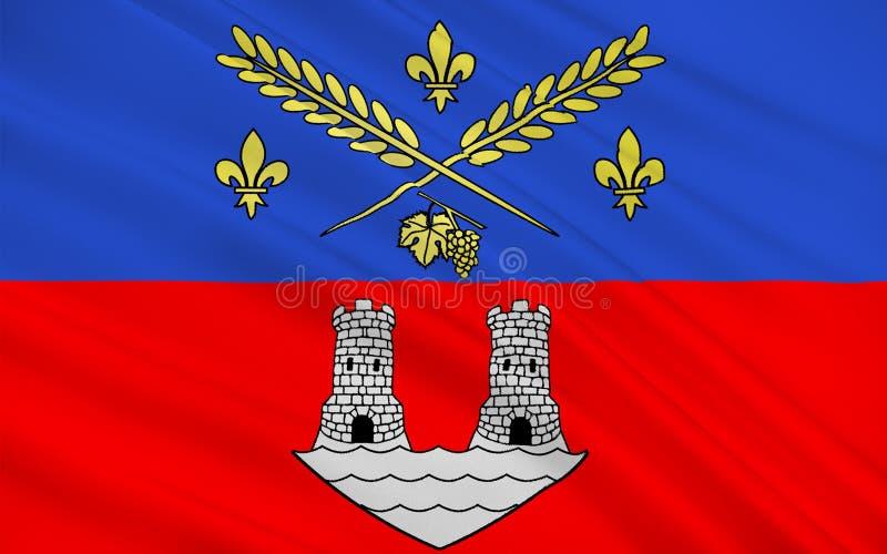 Bandiera del Nogent-sur-Marne, Francia illustrazione di stock