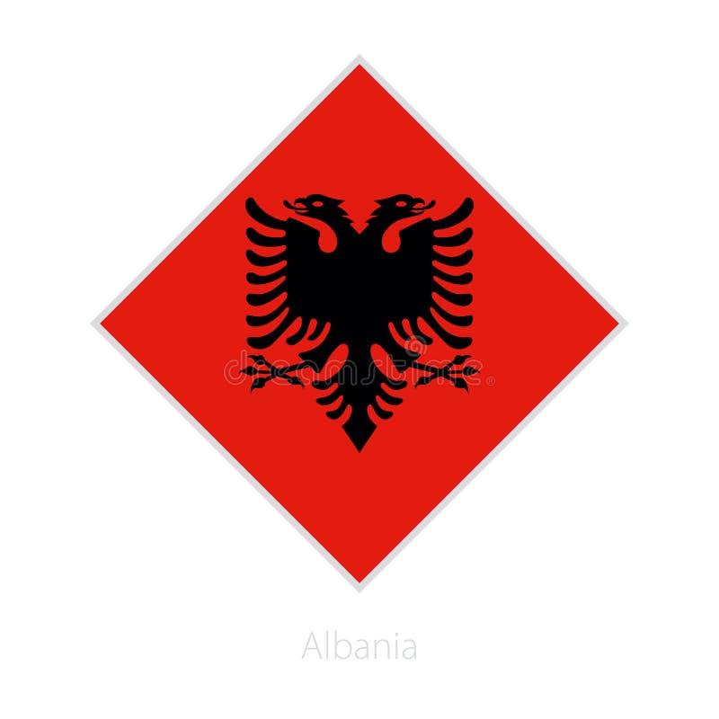 Bandiera del partecipante dell'Albania della concorrenza di calcio di Europa illustrazione di stock