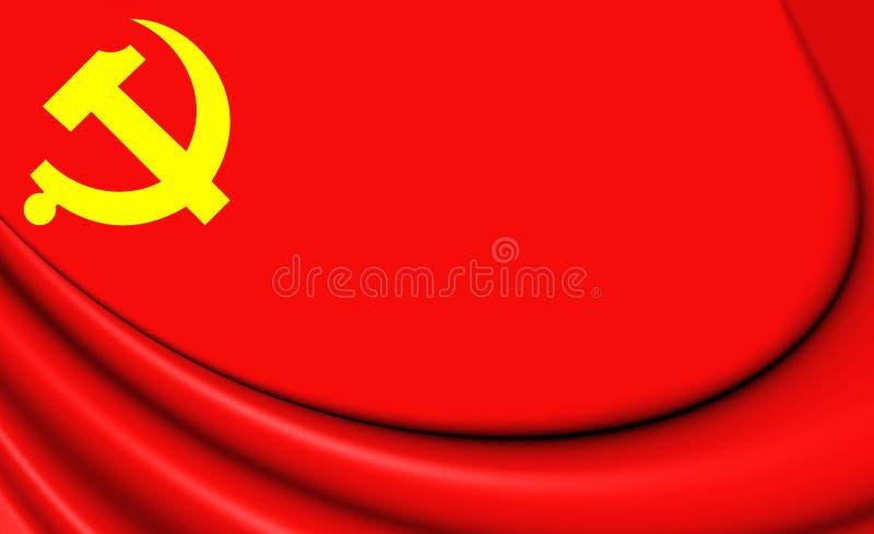 Bandiera del partito comunista cinese illustrazione di stock