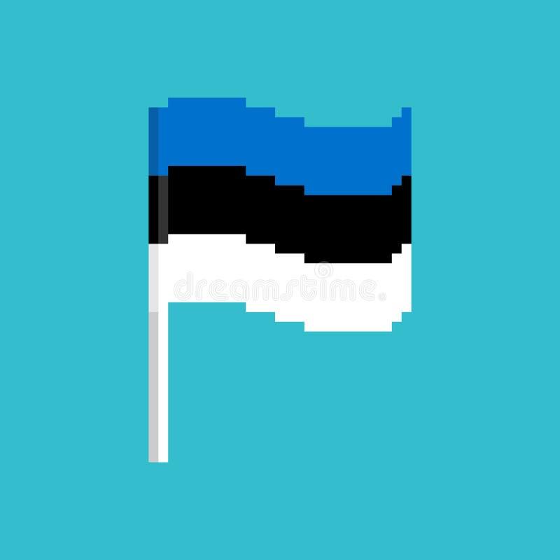 Bandiera del pixel dell'Estonia Insegna di Pixelated estone ico politico del pezzo illustrazione vettoriale