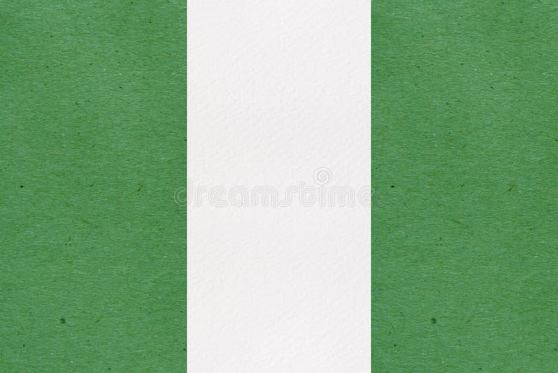 Bandiera del primo piano della Nigeria fotografia stock
