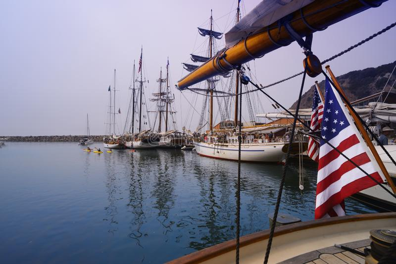 Bandiera del ` s della nave fotografia stock
