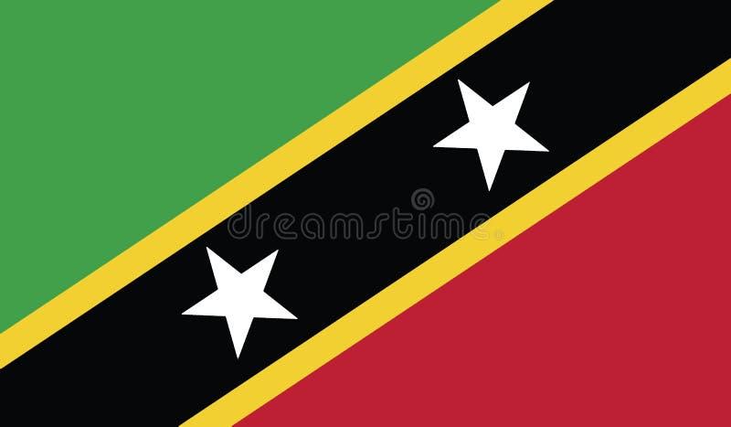 Bandiera del san San Cristobal e dell'illustrazione dell'icona del Nevis fotografia stock libera da diritti