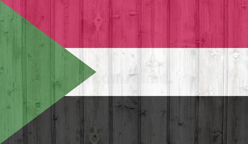 Bandiera del Sudan illustrazione di stock