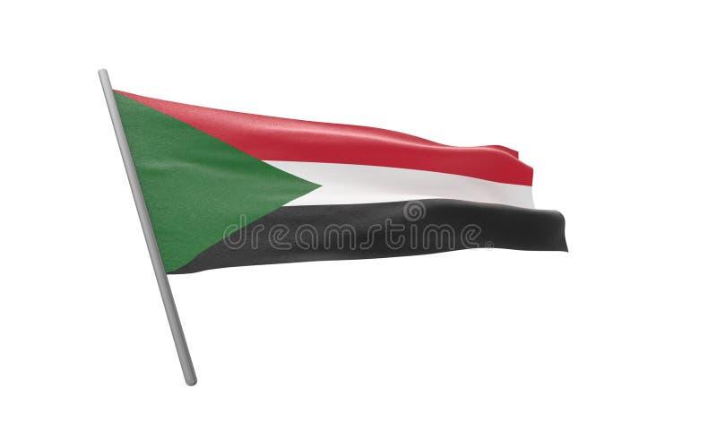 Bandiera del Sudan fotografia stock