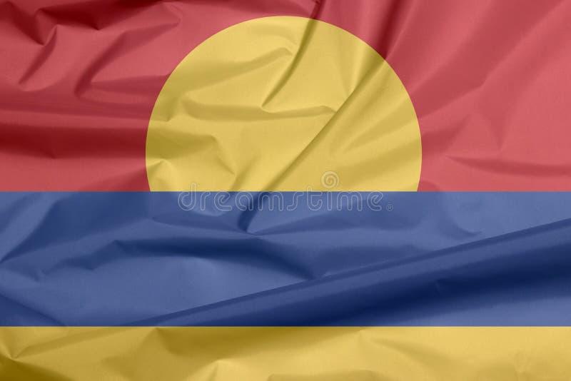 Bandiera del tessuto del fondo delle Isole minori degli Stati Uniti fotografia stock libera da diritti