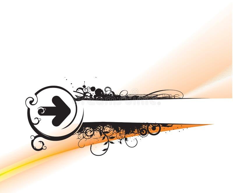 Bandiera del testo del campione illustrazione di stock