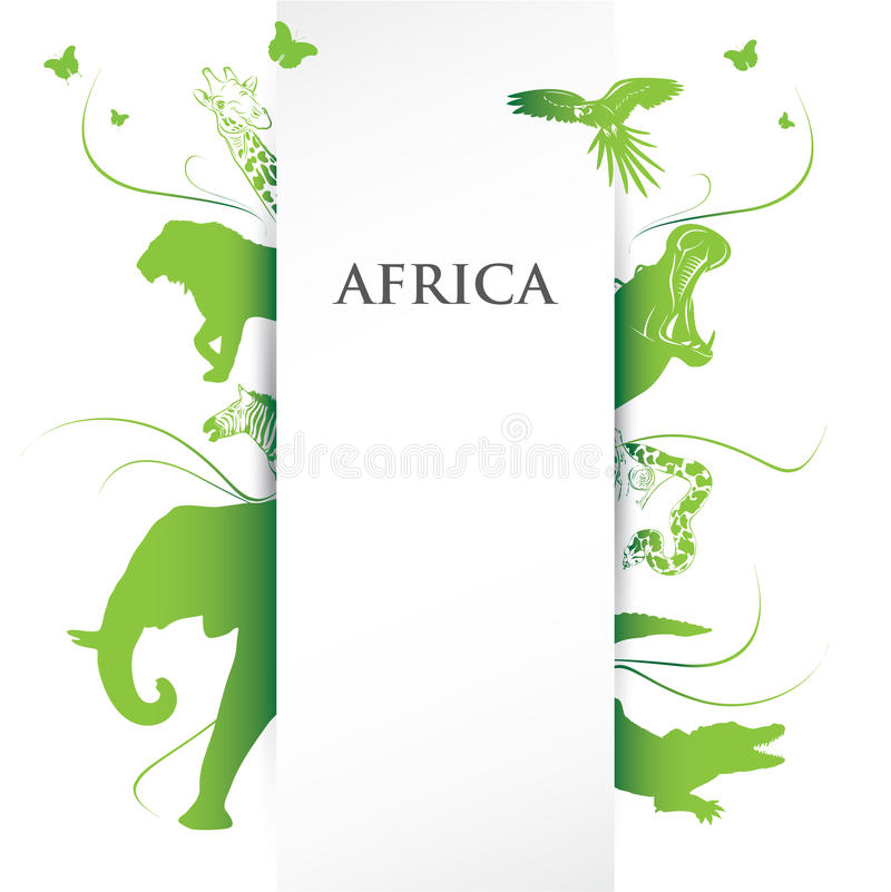Bandiera dell'Africa illustrazione vettoriale