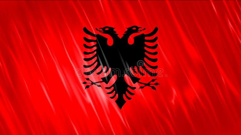 Bandiera dell'Albania fotografia stock