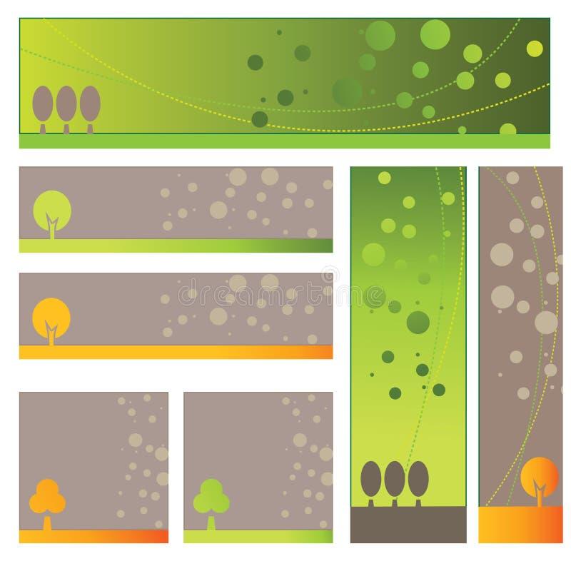 Bandiera dell'albero illustrazione di stock