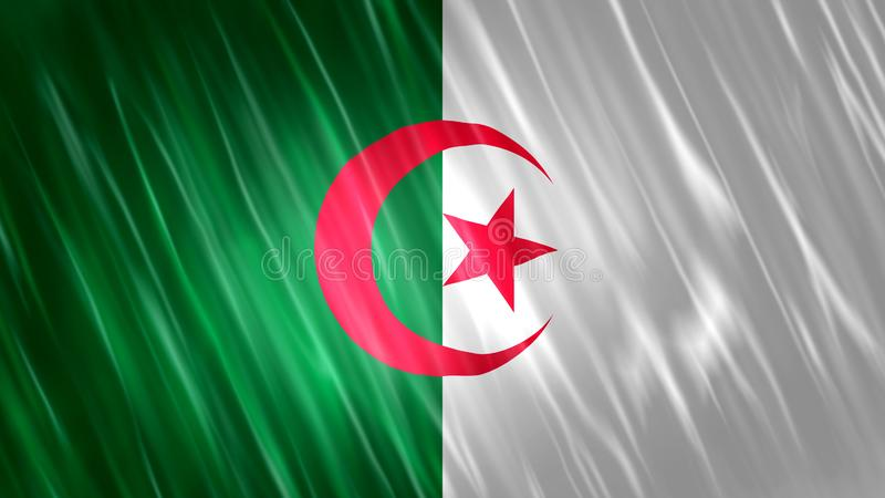 Bandiera dell'Algeria immagine stock