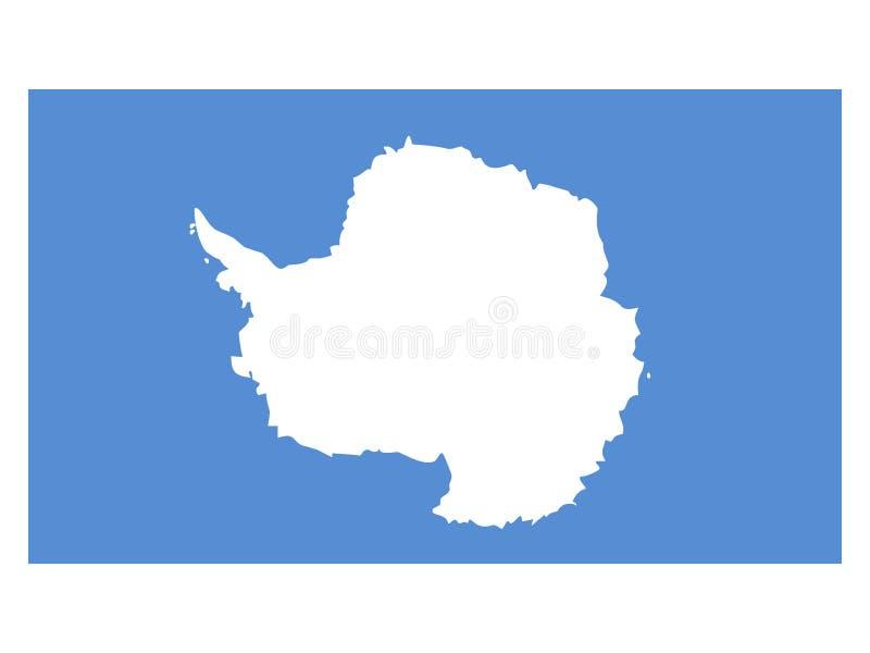 Bandiera dell'Antartide illustrazione vettoriale