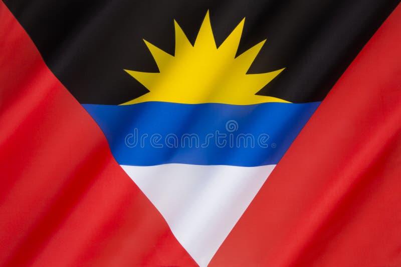 Bandiera dell'Antigua e Barbuda - i Caraibi fotografia stock libera da diritti