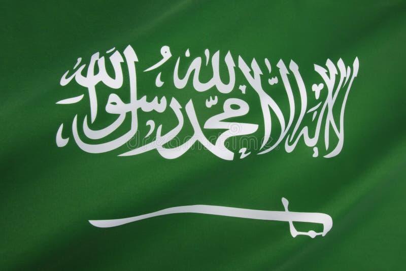Bandiera dell'Arabia Saudita fotografia stock