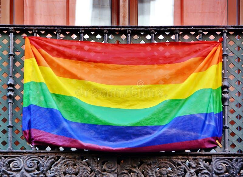 Bandiera dell'arcobaleno fotografia stock libera da diritti