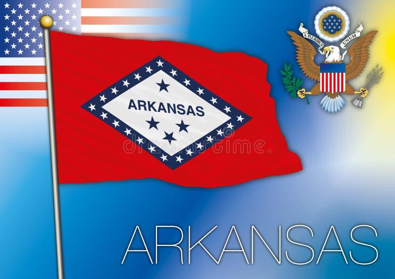 Download Bandiera Dell'Arkansas, Stato USA Illustrazione di Stock - Illustrazione di naturalizzisi, capitale: 56876013