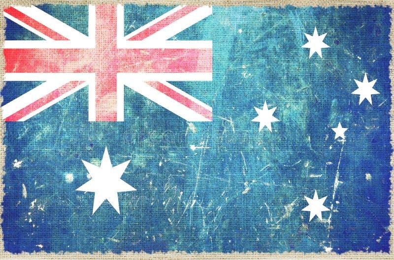 Bandiera dell'Australia fotografia stock