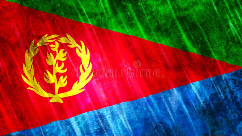 Bandiera dell'Eritrea royalty illustrazione gratis