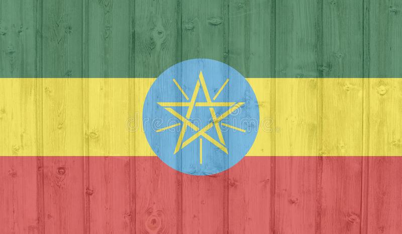 Bandiera dell'Etiopia illustrazione vettoriale