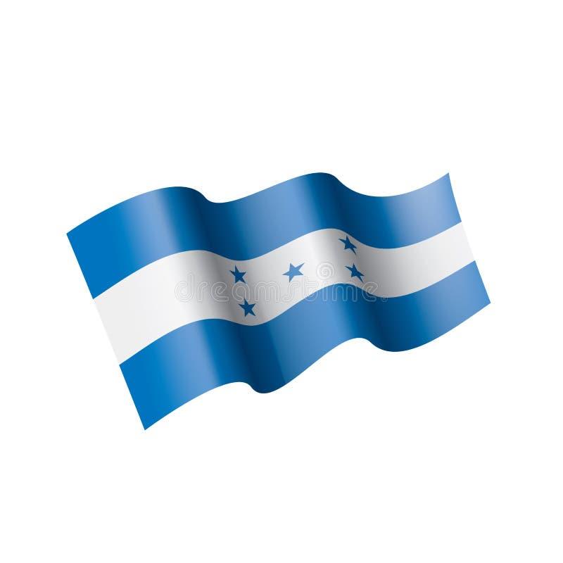 Bandiera dell'Honduras, illustrazione di vettore su un fondo bianco royalty illustrazione gratis