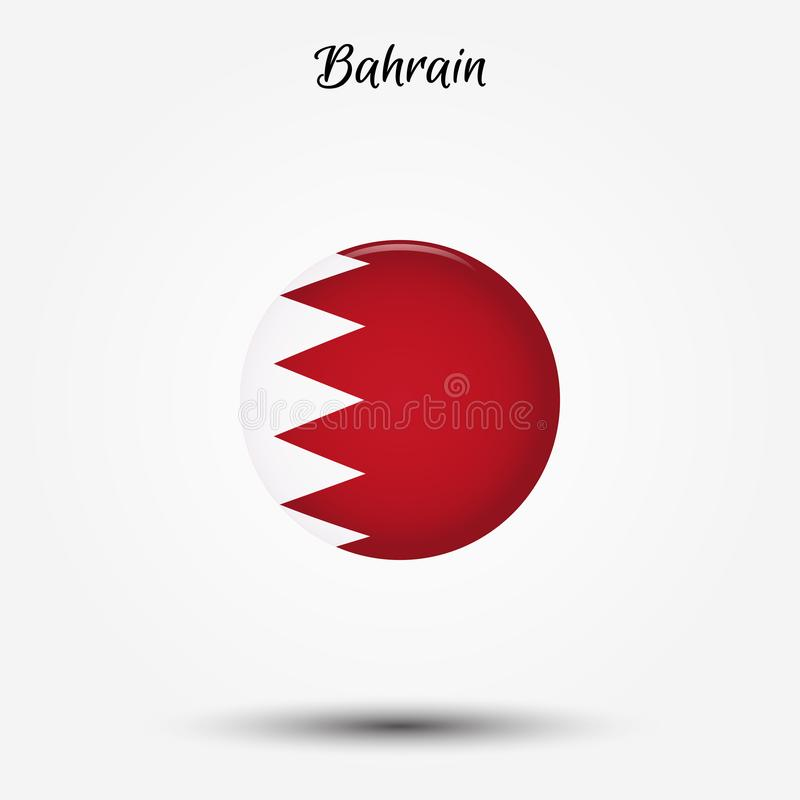 Bandiera dell'icona del Bahrain illustrazione di stock
