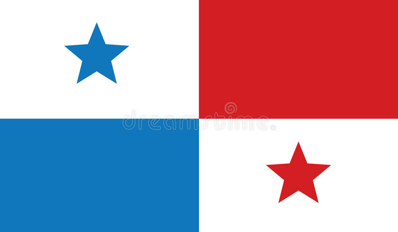 Bandiera dell'illustrazione dell'icona del Panama fotografia stock
