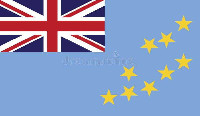 Bandiera dell'illustrazione dell'icona del Tuvalu immagine stock libera da diritti