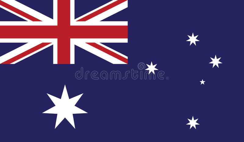 Bandiera dell'illustrazione dell'icona dell'Australia immagine stock libera da diritti
