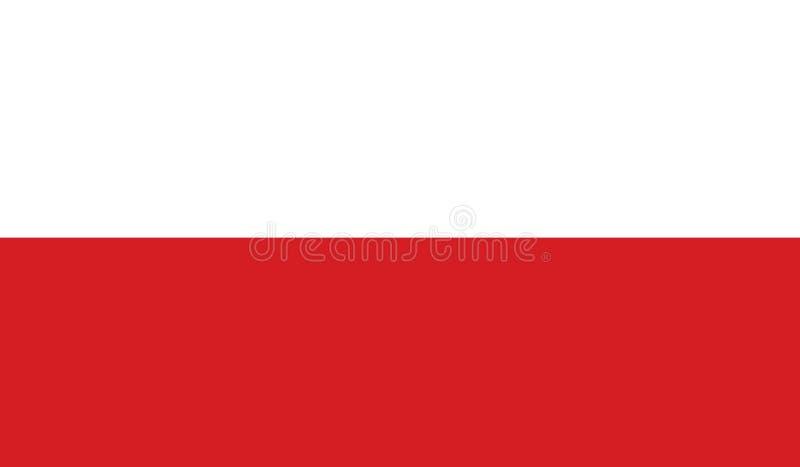 Bandiera dell'illustrazione dell'icona della Polonia fotografia stock libera da diritti