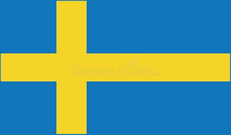 Bandiera dell'illustrazione dell'icona della svezia fotografia stock libera da diritti