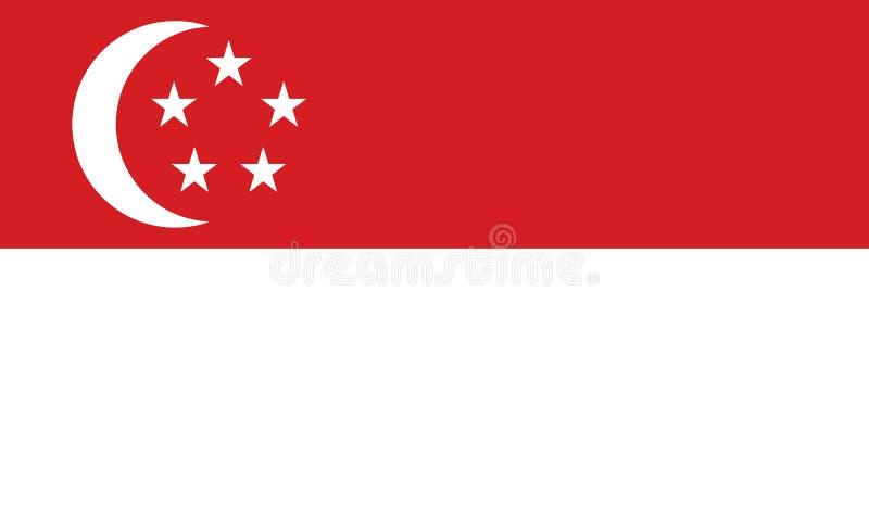 Bandiera dell'illustrazione dell'icona di Singapore immagine stock libera da diritti
