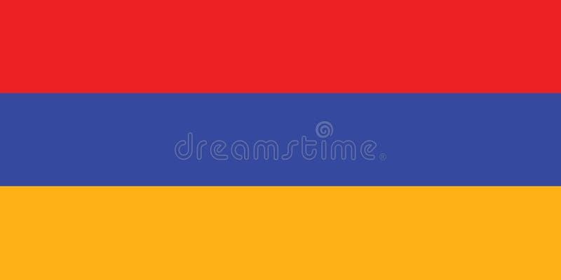 Bandiera dell'illustrazione di vettore dell'Armenia illustrazione vettoriale