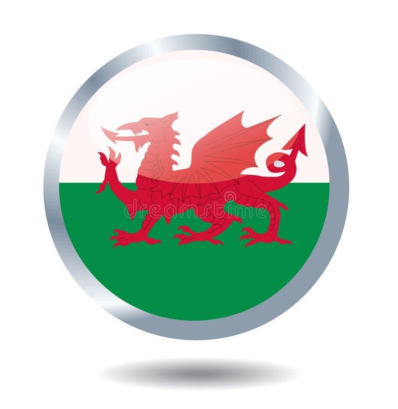 Bandiera dell'illustrazione di vettore del Galles illustrazione vettoriale