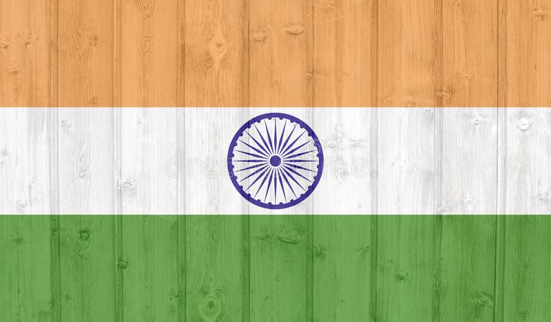 Bandiera dell'India di lerciume royalty illustrazione gratis