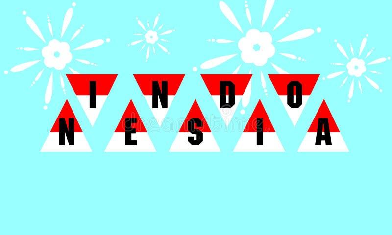 Bandiera dell'Indonesia fotografia stock libera da diritti