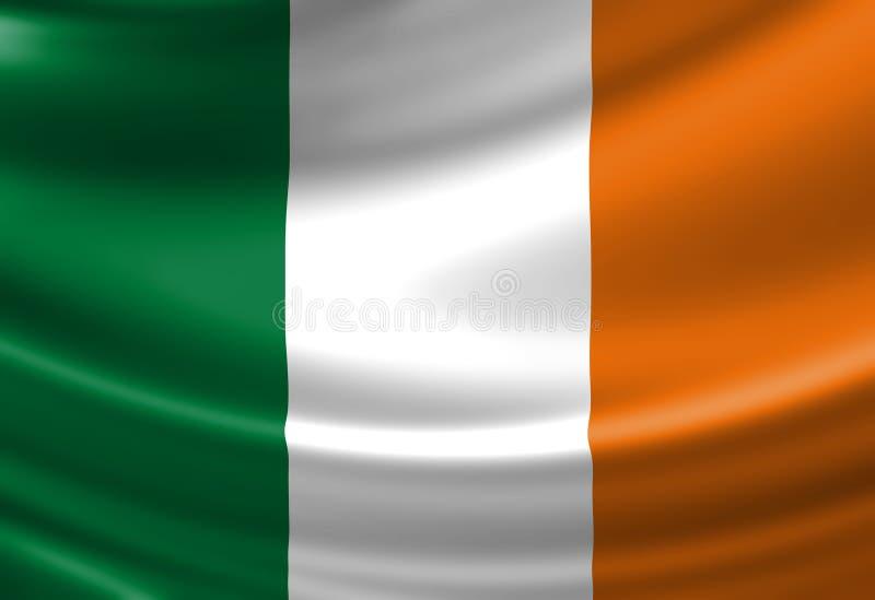 Bandiera dell'Irlandese illustrazione vettoriale
