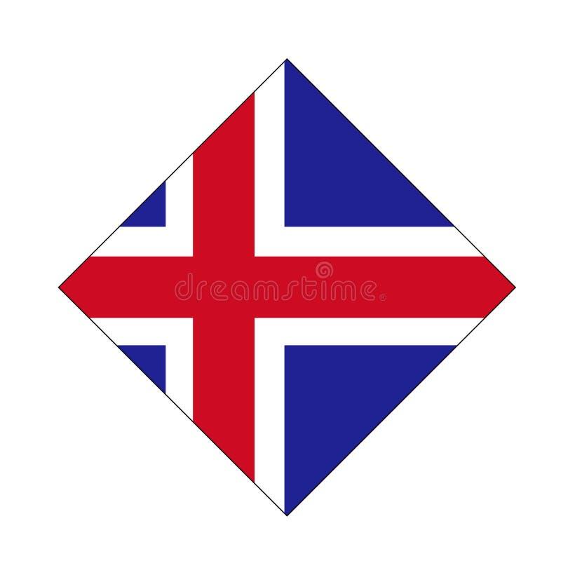 Bandiera dell'Islanda - paese di isola nordico nell'Atlantico Settentrionale illustrazione vettoriale