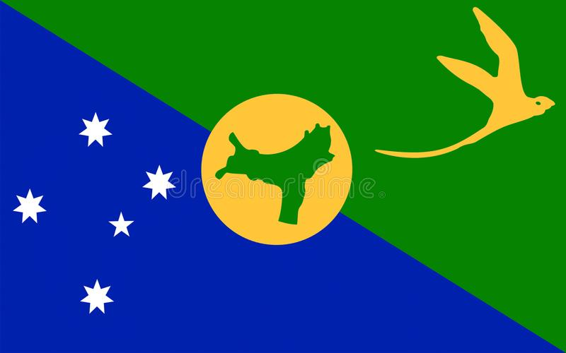 Bandiera dell'isola di Natale illustrazione di stock
