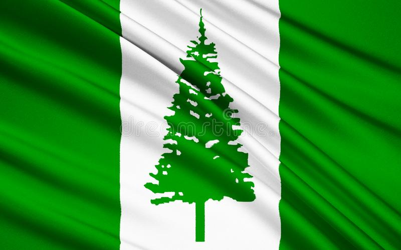 Bandiera dell'isola Norfolk Australia - Kingston fotografia stock