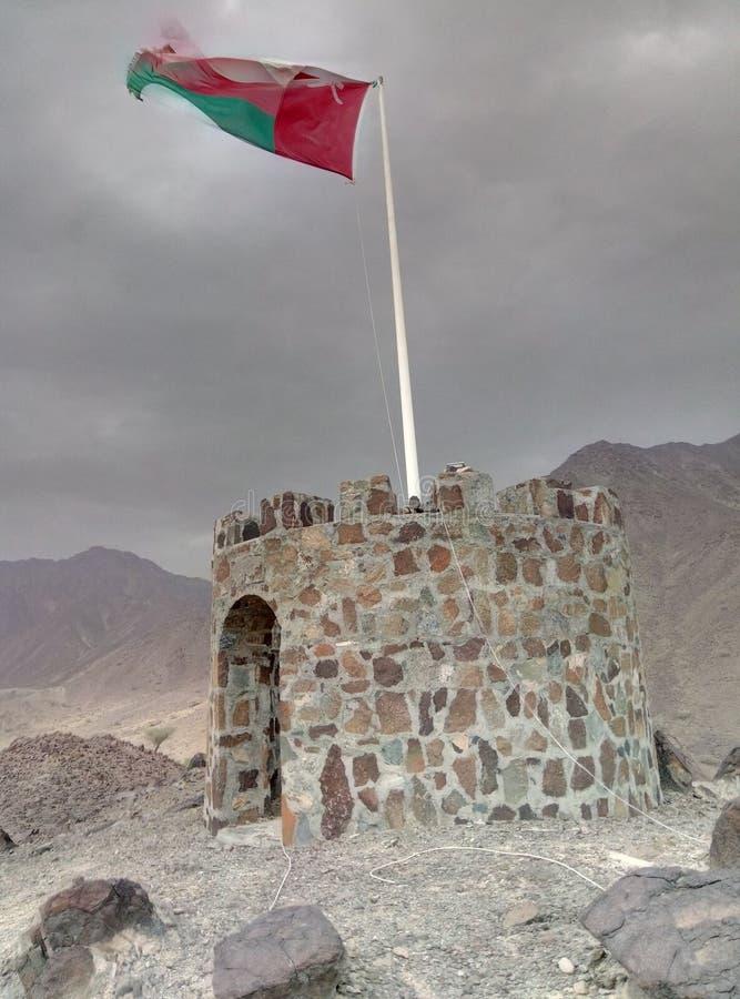 Bandiera dell'Oman fotografia stock libera da diritti