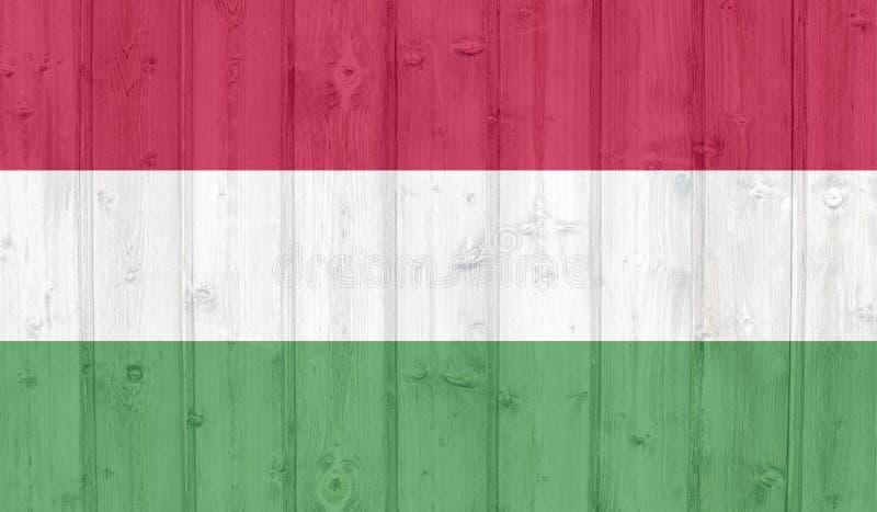 Bandiera dell'Ungheria royalty illustrazione gratis