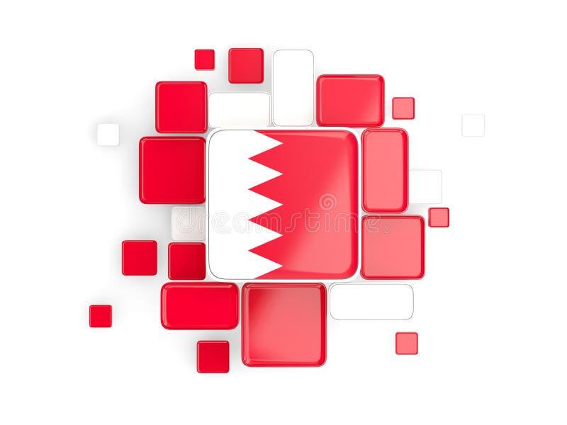 Bandiera della Bahrain, fondo del mosaico illustrazione vettoriale