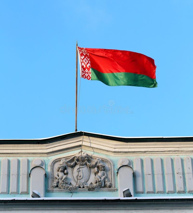 Bandiera della Bielorussia fotografia stock libera da diritti