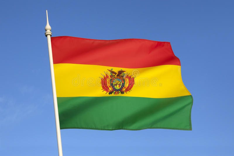 Bandiera della Bolivia - il Sudamerica fotografie stock